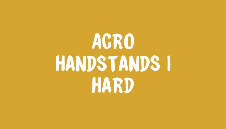 Handstands 1 Banner