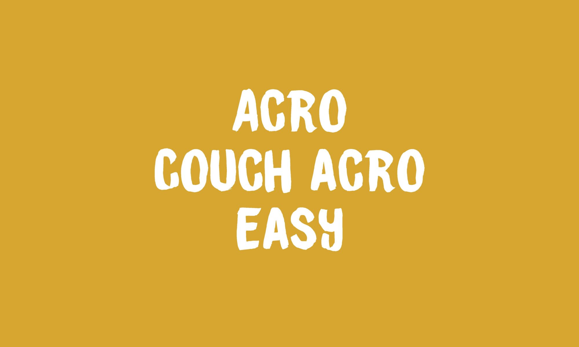 Couch Acro banner