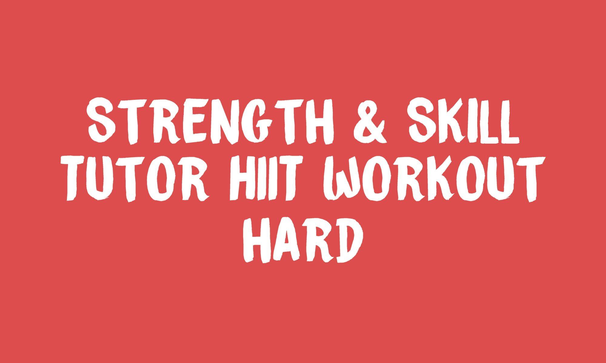 Tutor HIIT workout Banner