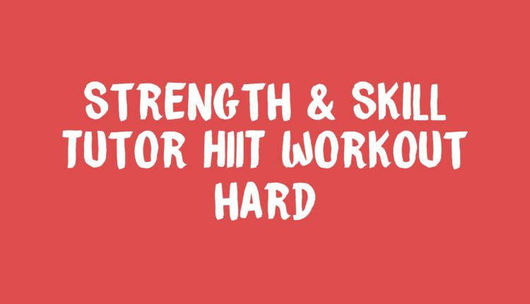 Tutor HIIT workout Banner