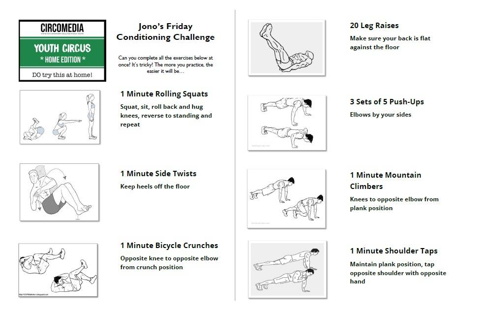 Jono's got a tricky Friday conditioning challenge for you! Can you complete it in one go?