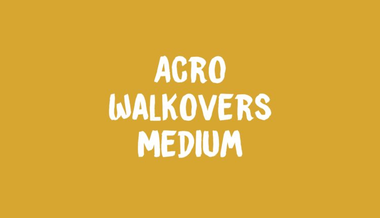 Acro Walkovers Banner