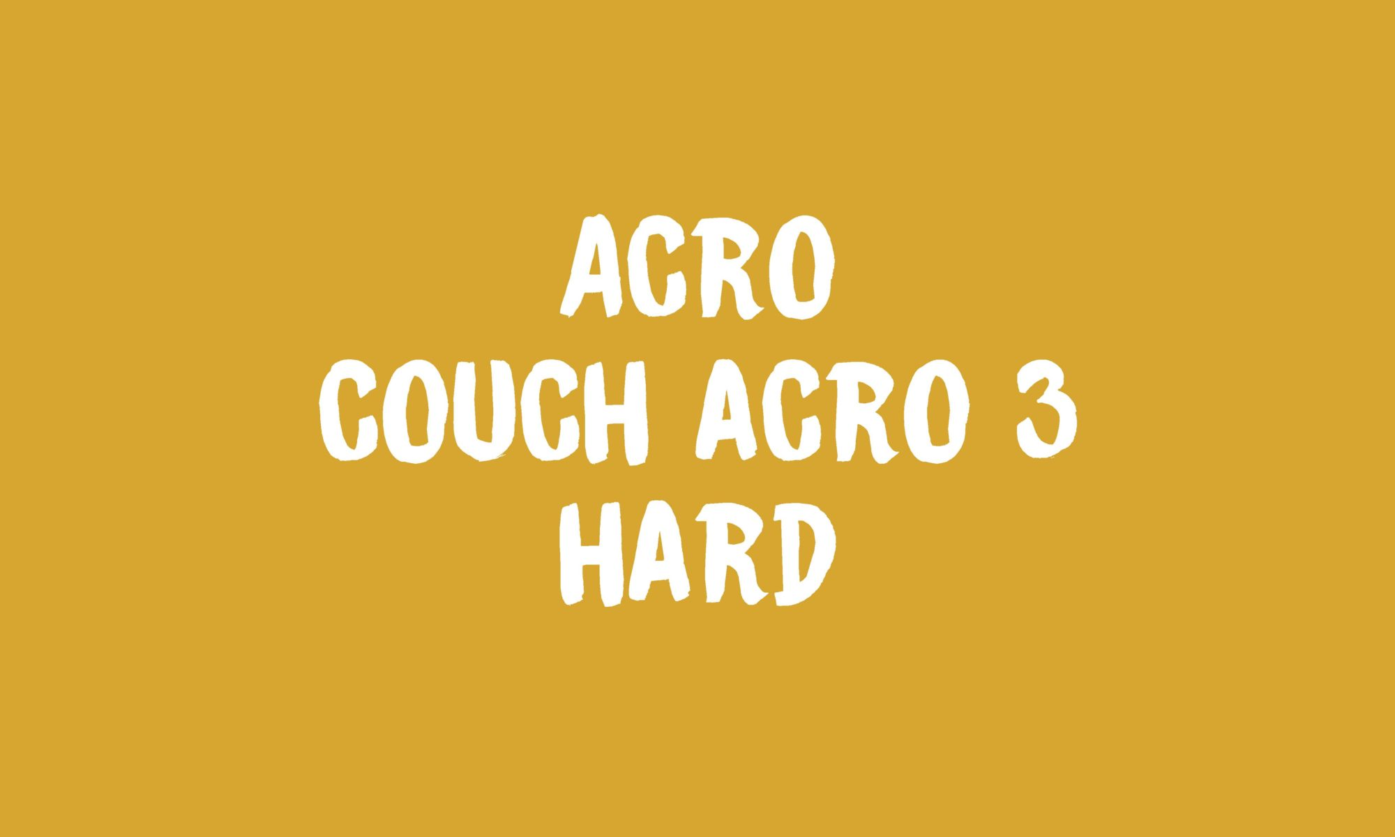 Acro Couch Acro 3 Banner