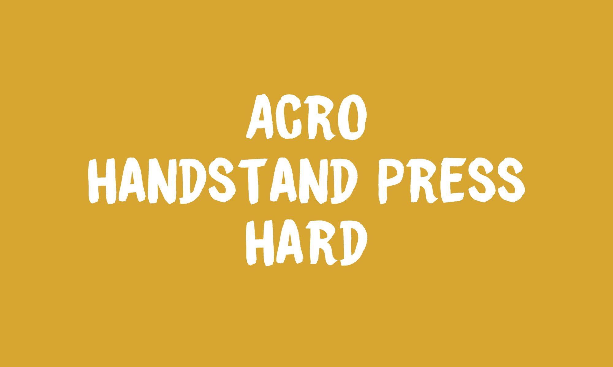 Acro Handstand Press Banner