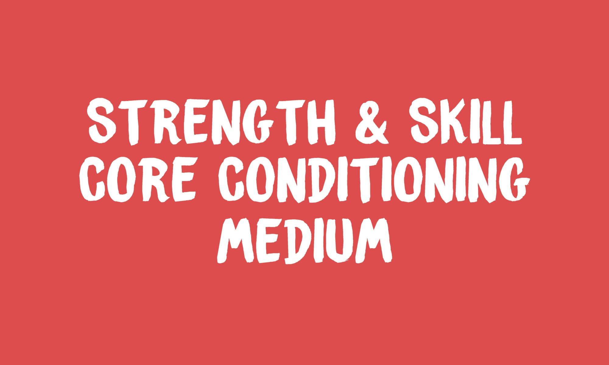 S&S Core Conditioning Banner