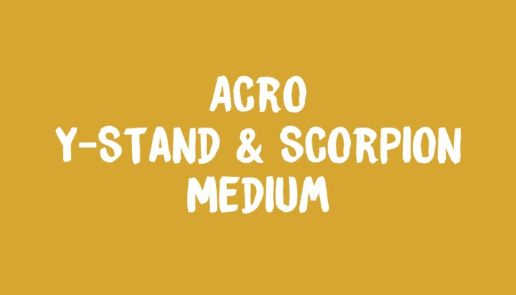 Acro Y Stand & Scorpion Banner
