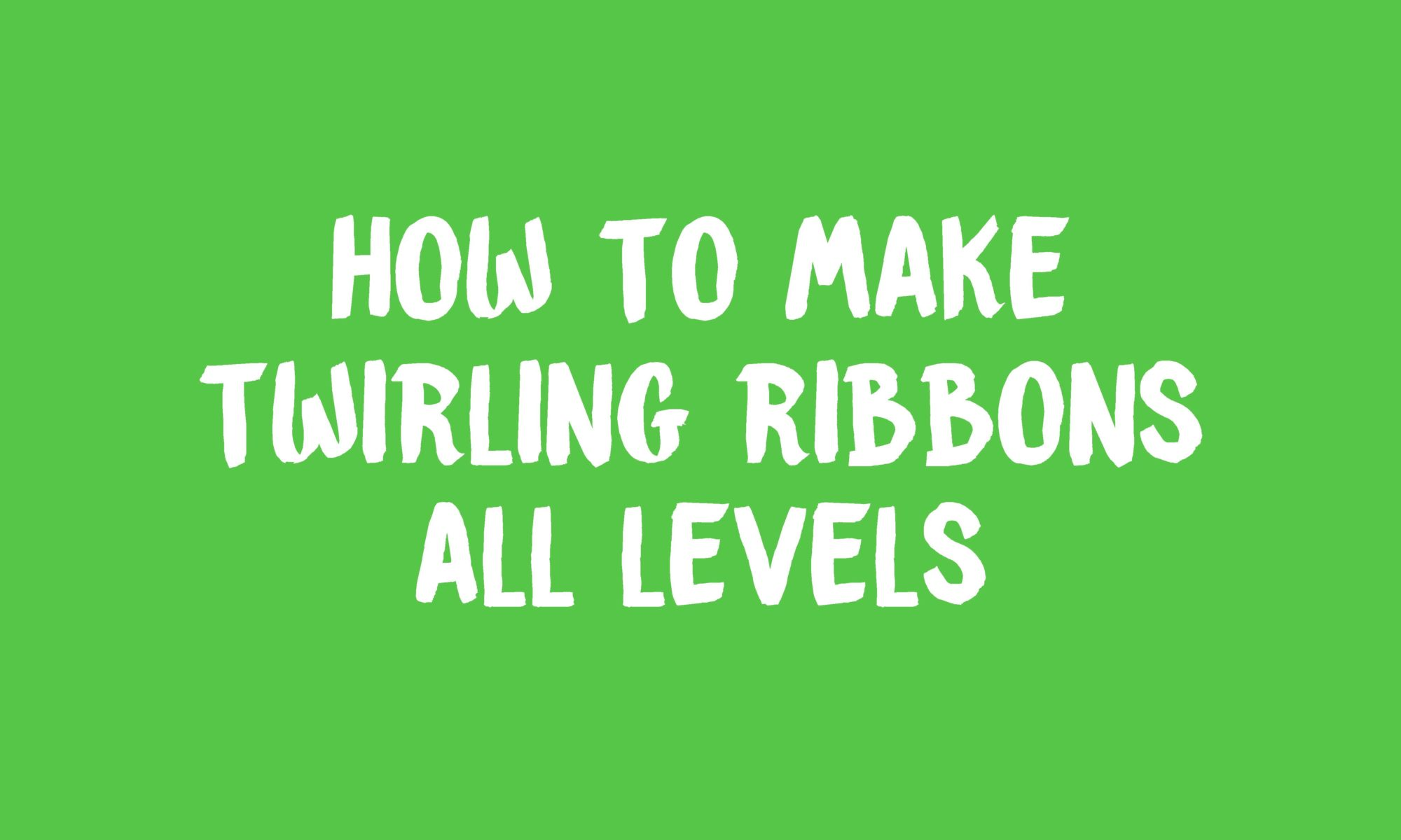How To Make Twirling Ribbons Banner