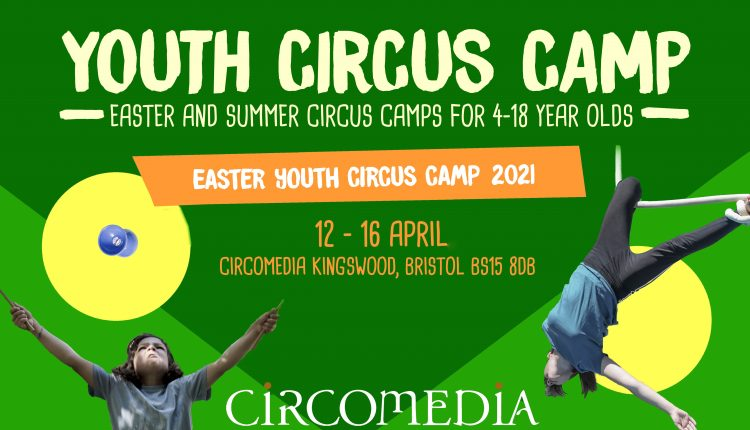 Easter Youth Circus Camps Banner 2021
