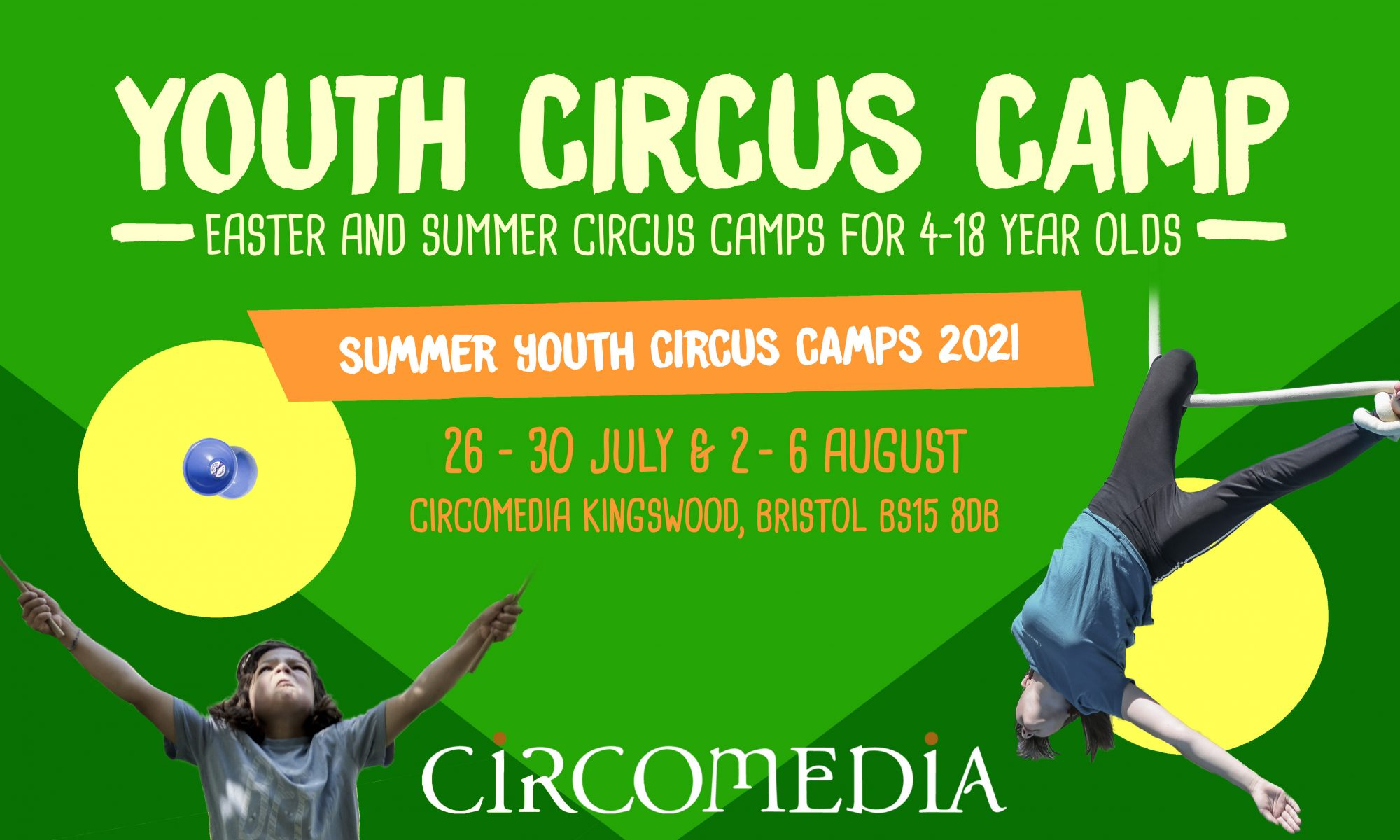 Summer Youth Circus Camp 2021