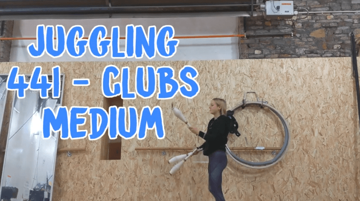 Juggling Clubs 441 Banner