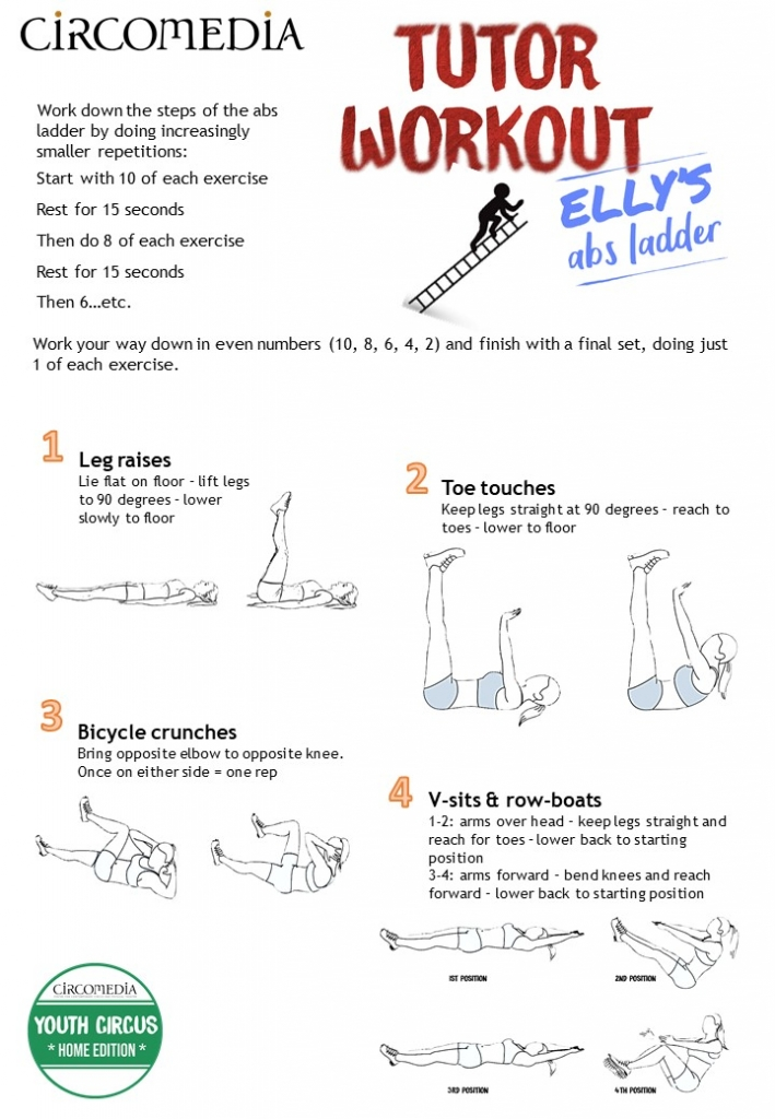 Circomedia Home Edition Elly's Abs Ladder Workout