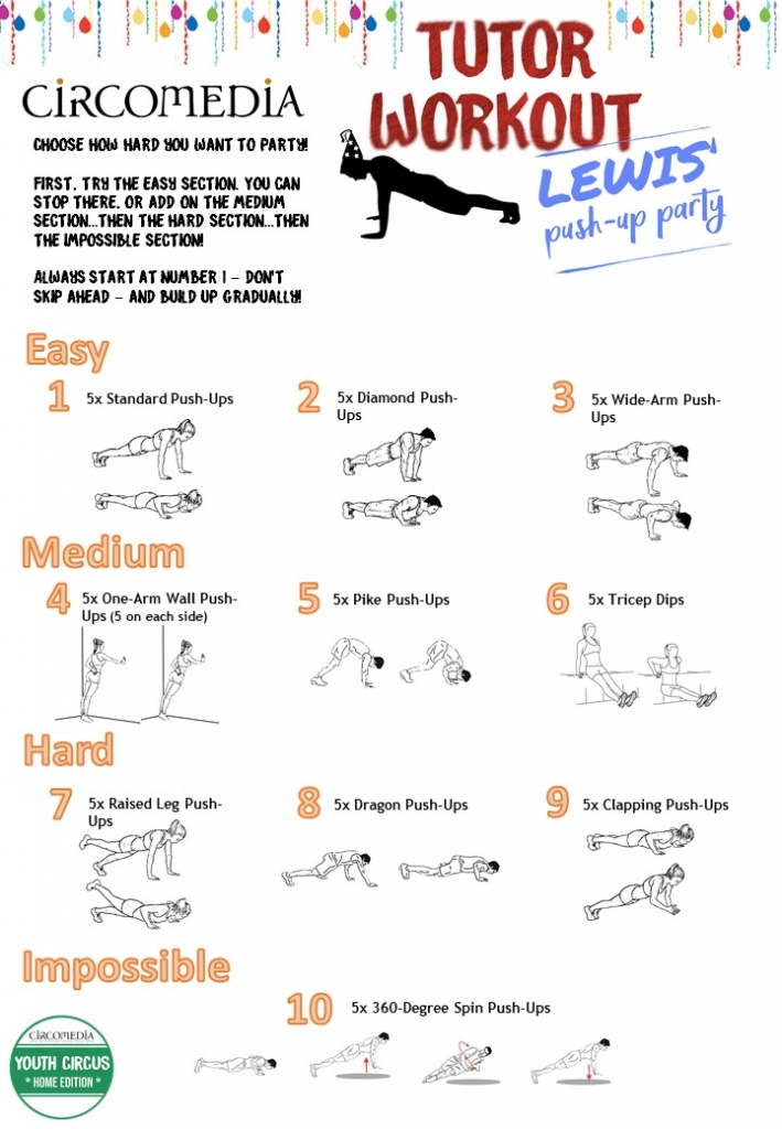 Activity Pack 3 Push-Up Party