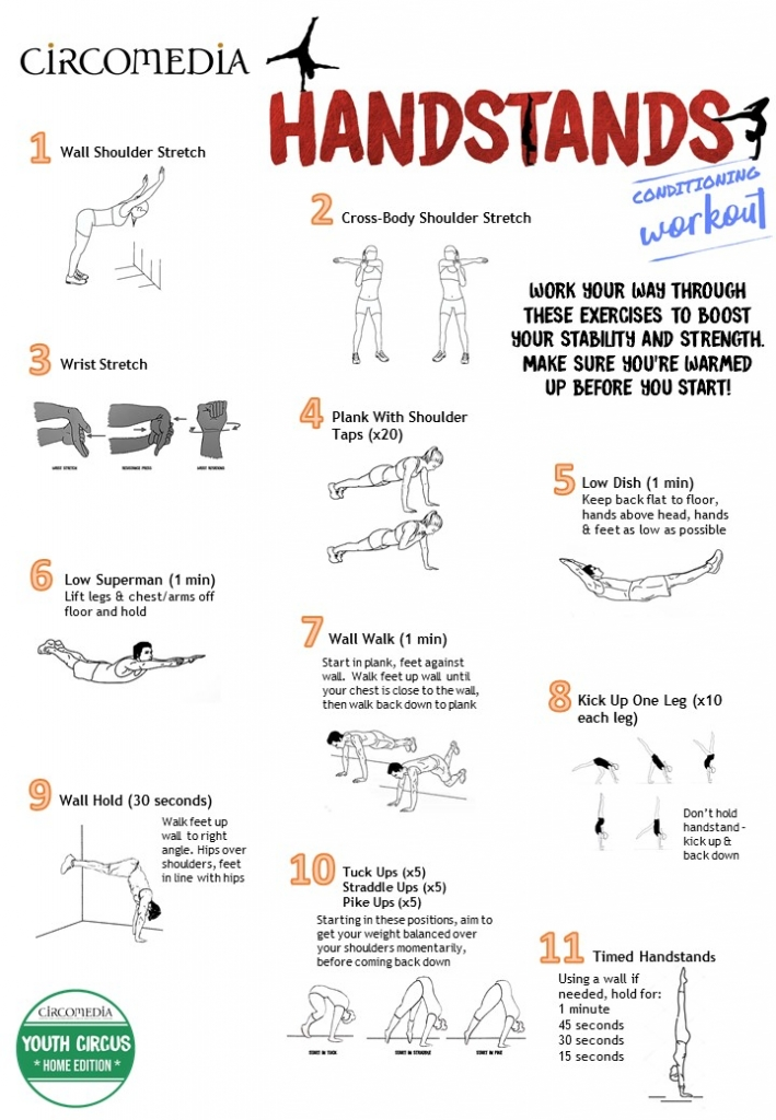 Activity Pack 4 Handstands Conditioning Workout