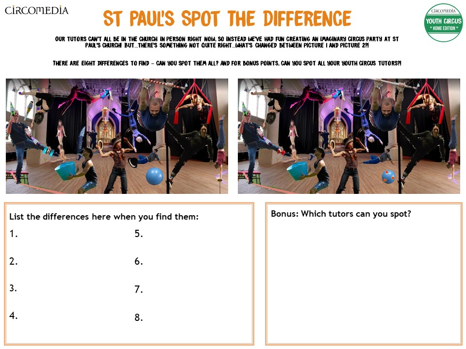 Activity Pack 4 St Paul's Spot The Difference